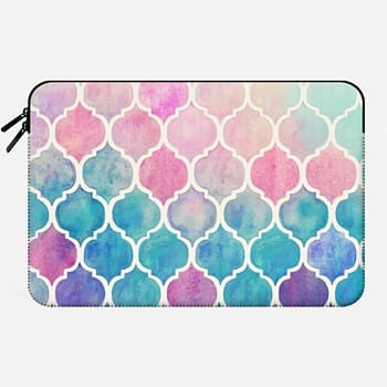 Macbook 12 Sleeve Rainbow Pastel Watercolor Moroccan Pattern