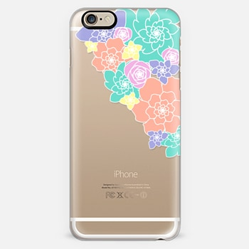 Pastel Abstract Floral Transparent