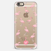 Pink Flamingos by Wonder Forest Clear Case
