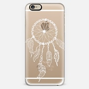 WHITE DREAMCATCHER - CRYSTAL CLEAR PHONE CASE