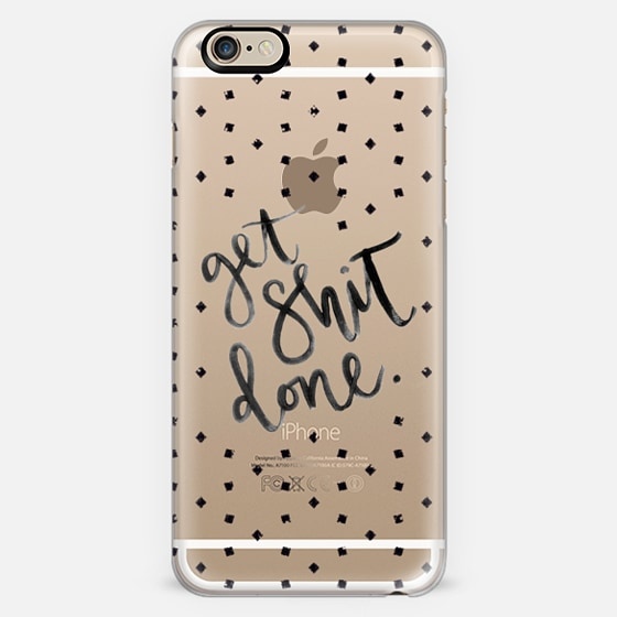 Get Shit Done iPhone Case on Casetify by Hey Love Designs