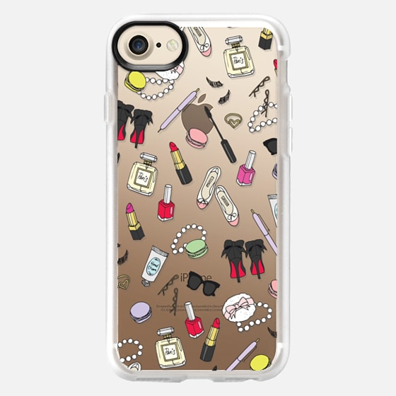 Girly Things Clear Protective Case - Wallet Case