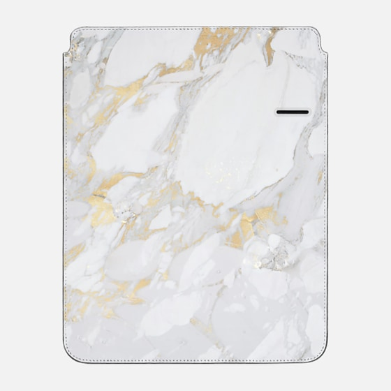 "iPad Pro 12.9"" Sleeve - Marble with gold"