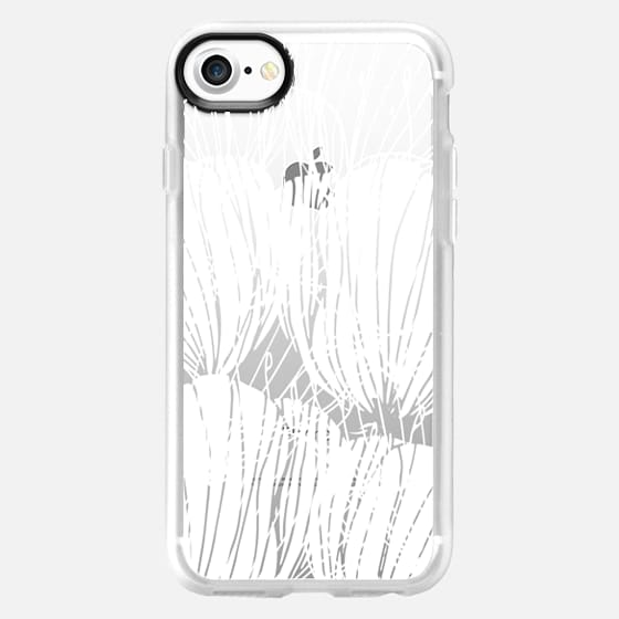 White Poppies - Classic Grip Case