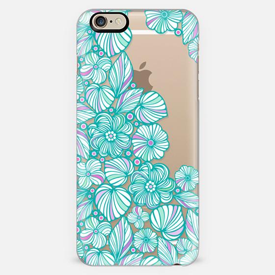 Turquoise flowers -