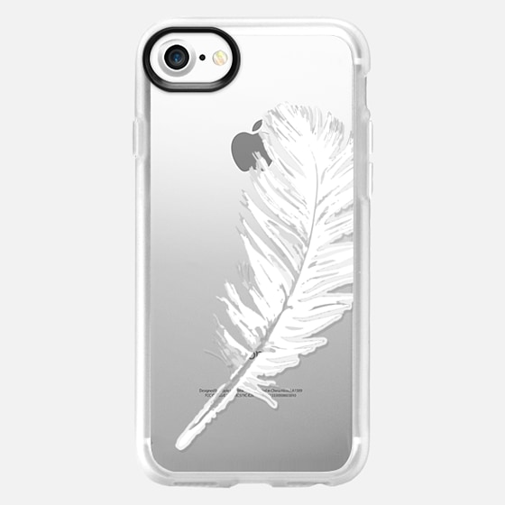 lovely white feather - Wallet Case