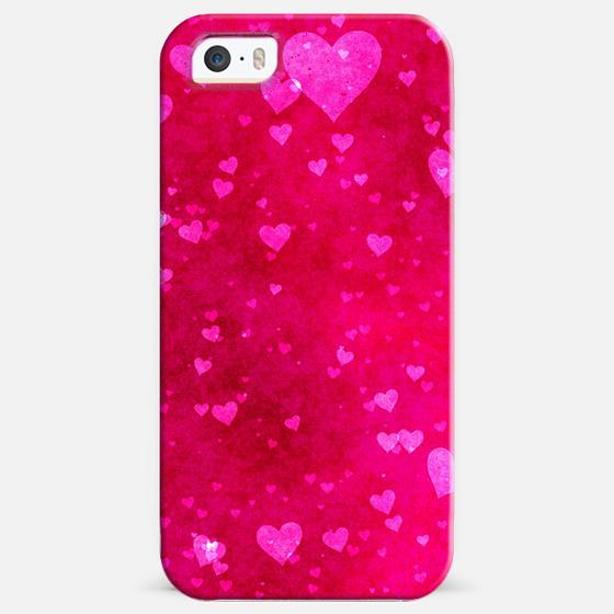 Bright Pink Hearts -