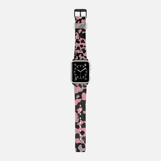 pink and black camo abstract -