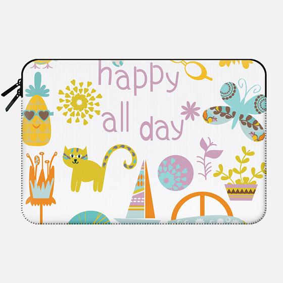 Happy all day) - Macbook Sleeve