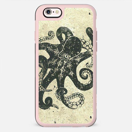 Black Brown Vintage Nautical Steampunk Octopus - New Standard Case