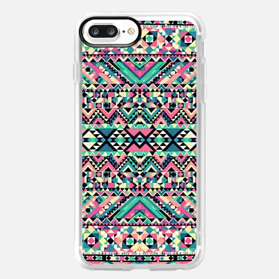 Pink Turquoise Girly Aztec Andes Tribal Pattern - Classic Grip Case