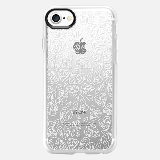 Monstera White on Clear - Wallet Case