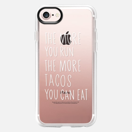 Run more eat more tacos - white - Classic Grip Case
