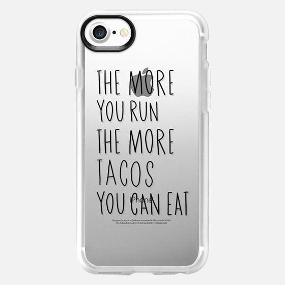 Run more eat more tacos - black - Classic Grip Case