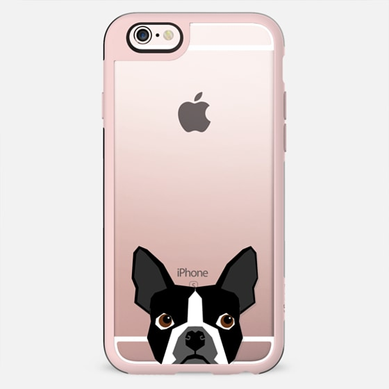 Boston Terrier Cell Phone case for dog lovers dog person gifts clear iphone case black and white puppy -