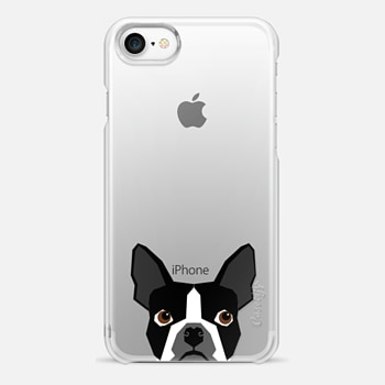 iPhone 7 Case Boston Terrier Cell Phone case for dog lovers dog person gifts clear iphone case black and white puppy