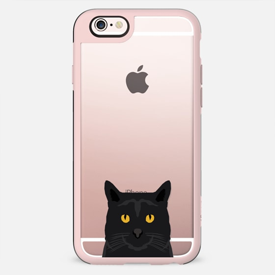 Cute black cat gift idea for cat lady cat person kitten clear cell phone case iphone6 - New Standard Case