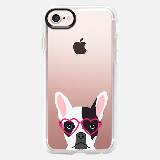 Black and White french bulldog frenchie pet owners cell phone case transparent iphone6 case pet friendly -
