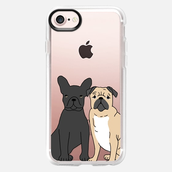 Frenchie and Pug - Cute french bulldog and pug iphone 6 clear case, cute dogs case - Wallet Case