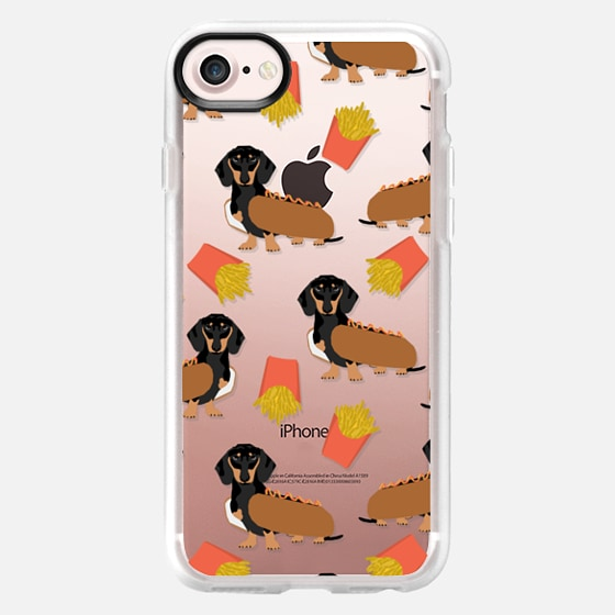 Dachshund cute hot dog and french fries junk food moxie owners must haves iphone6 transparent pet portraits -