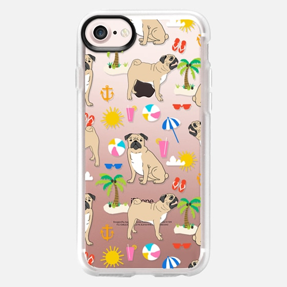 Pug beach life day at the beach fun in the sun pug owner must have gifts for summer - Wallet Case