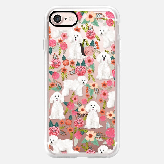 Bichon florals dog breed must have gifts for bichon frise cute fluffy white dog owners rejoice at this gift - Classic Grip Case