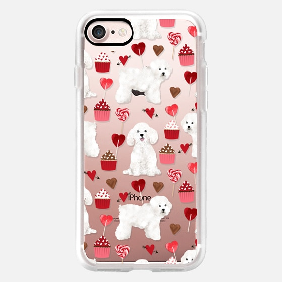 Bichon Frise valentines day cupcakes pattern phone case tech accessories for dog lovers dog breeds -