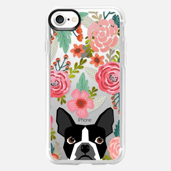 Boston Terrier Spring - vintage florals iphone6 case, boston terrier cell phone case, boston terrier spring flowers, vintage florals phone case, boston terrier cute phone case for trendy girl -