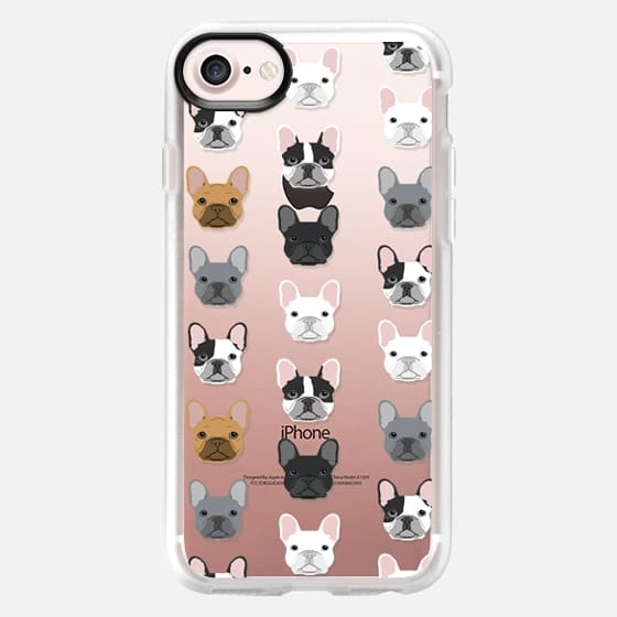 Frenchies - cute french bulldog owners will love this clear case french bulldog dog love -