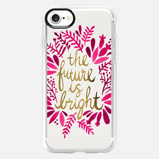 The Future is Bright – Pink & Gold - Wallet Case