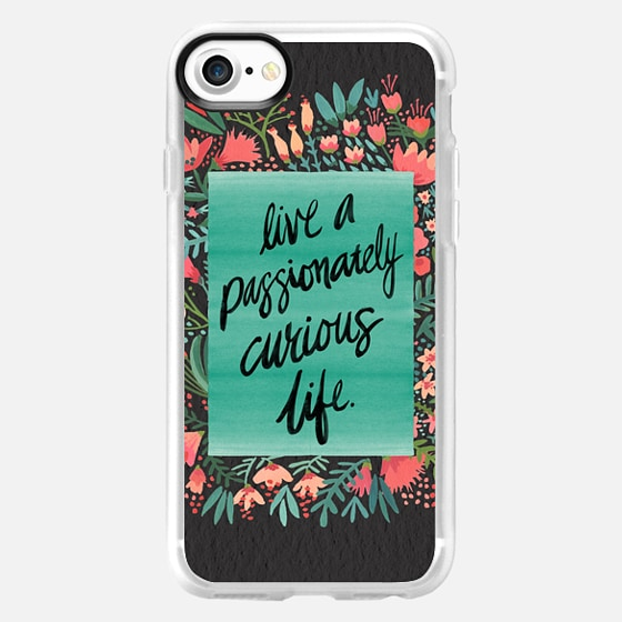 Passionately Curious Life (Charcoal) - Wallet Case