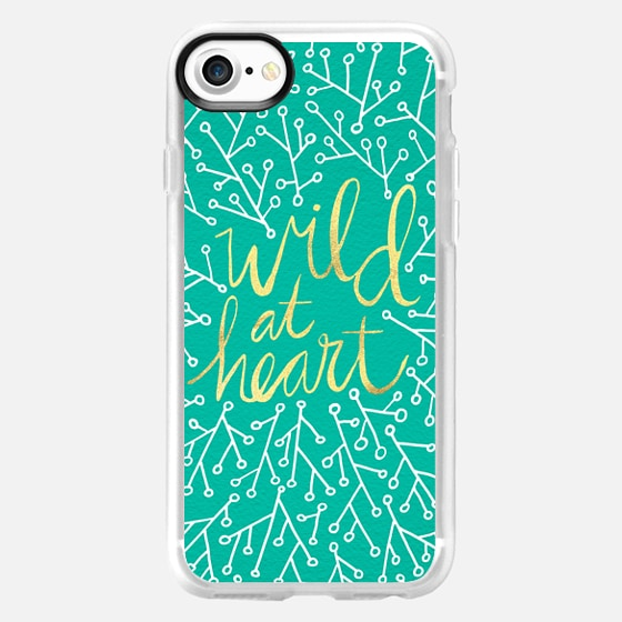 Wild at Heart – Turquoise - Wallet Case