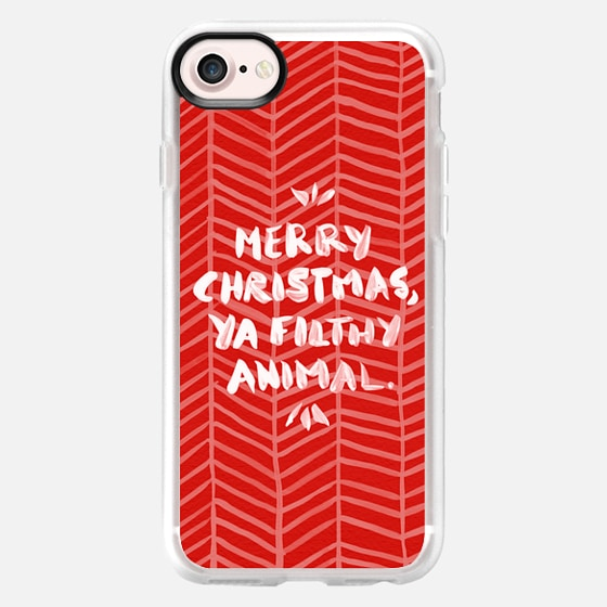 Merry Christmas, Ya Filthy Animal – Red - Wallet Case