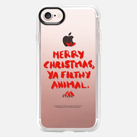 Merry Christmas, Ya Filthy Animal – Red Transparent -