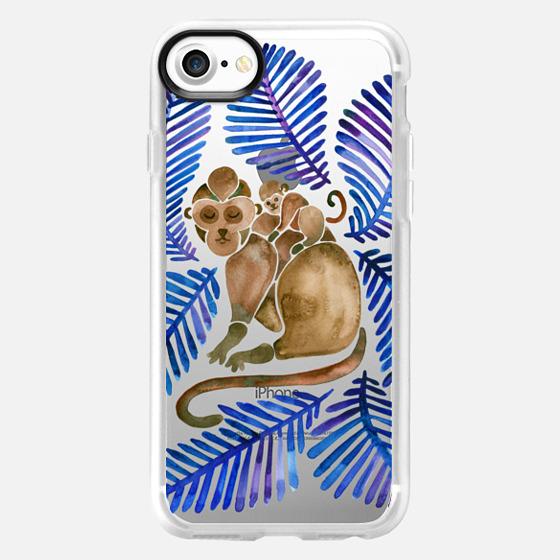 Tropical Monkeys - Navy Palette - Classic Grip Case