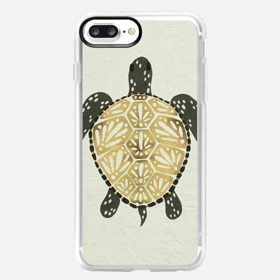 Painted Sea Turtle (Black & Gold) -