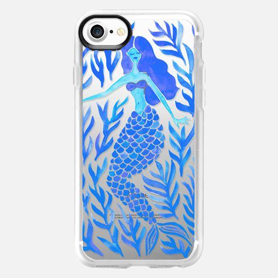 Kelp Forest Mermaid - Blue Palette (Transparent) - Classic Grip Case