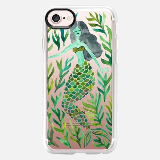 Kelp Forest Mermaid - Green Palette (Transparent) - Classic Grip Case