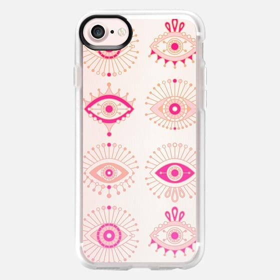 Evil Eyes - Pink/Peach Ombré - Classic Grip Case