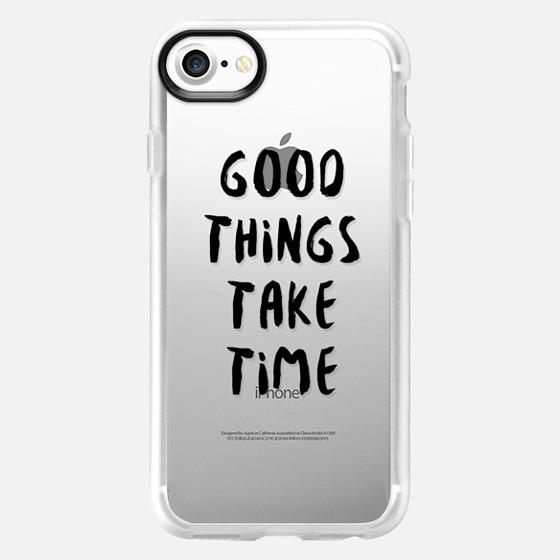 Good Things Take Time (Black) - Wallet Case