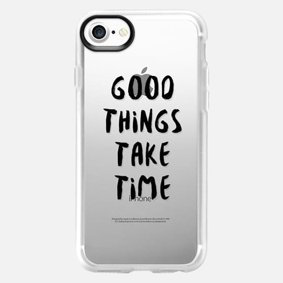 Good Things Take Time (Black) - Classic Grip Case