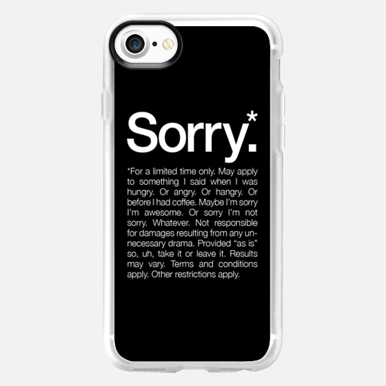 Sorry for a limited time Black - Wallet Case