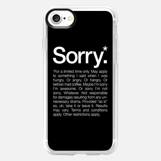 Sorry for a limited time Black - Classic Grip Case