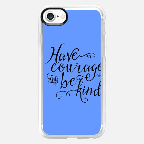 Have Courage and Be Kind blue - Wallet Case