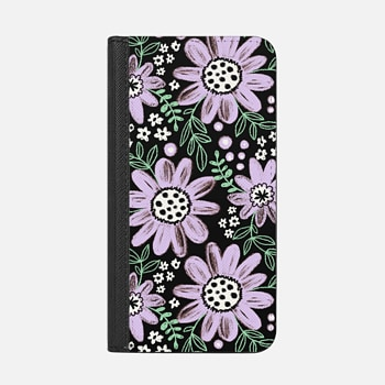 iPhone Wallet Case -  Chalkboard Floral 2