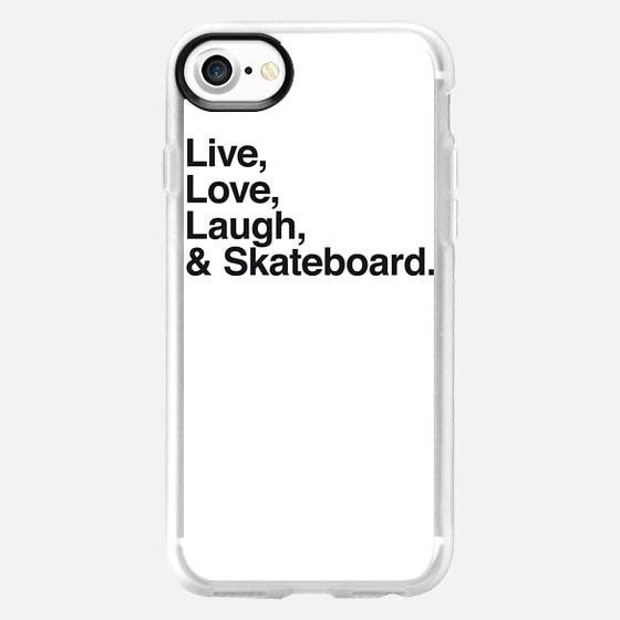 Live Love Laugh and skateboard - Wallet Case