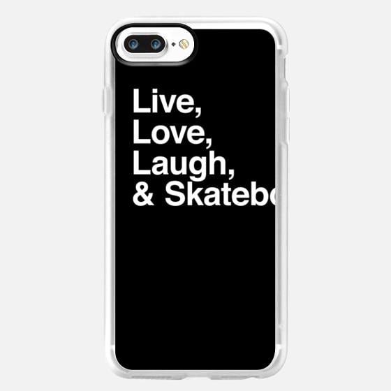 Live Love Laugh and skateboard - iPad -