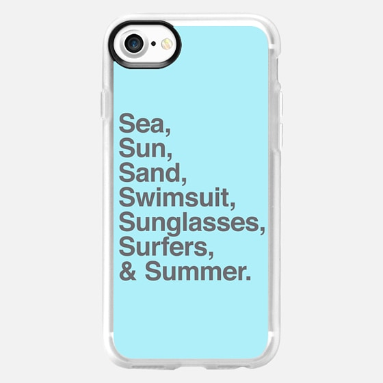 Sea Sun Sand  Swimsuit Sunglasses Surfers and Summer - Wallet Case