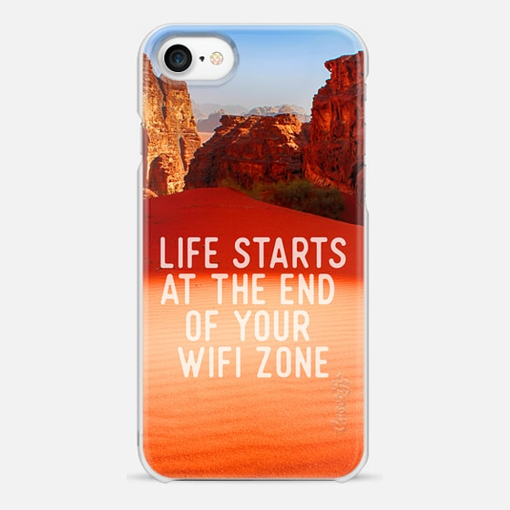 Life starts at the end of your wifi zone - Snap Case