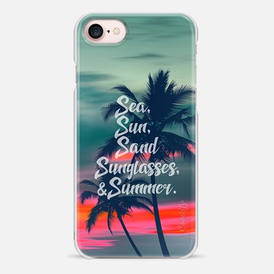 Sea sun sand sunglasses and summer - Snap Case